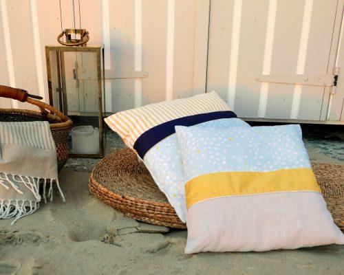 coussins tendances fabriqués en tissus différents et en pièce unique pour une décoration intérieure personnalisée